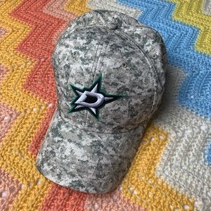Dallas Stars Hockey Camo Hat w/ Velcro Strap